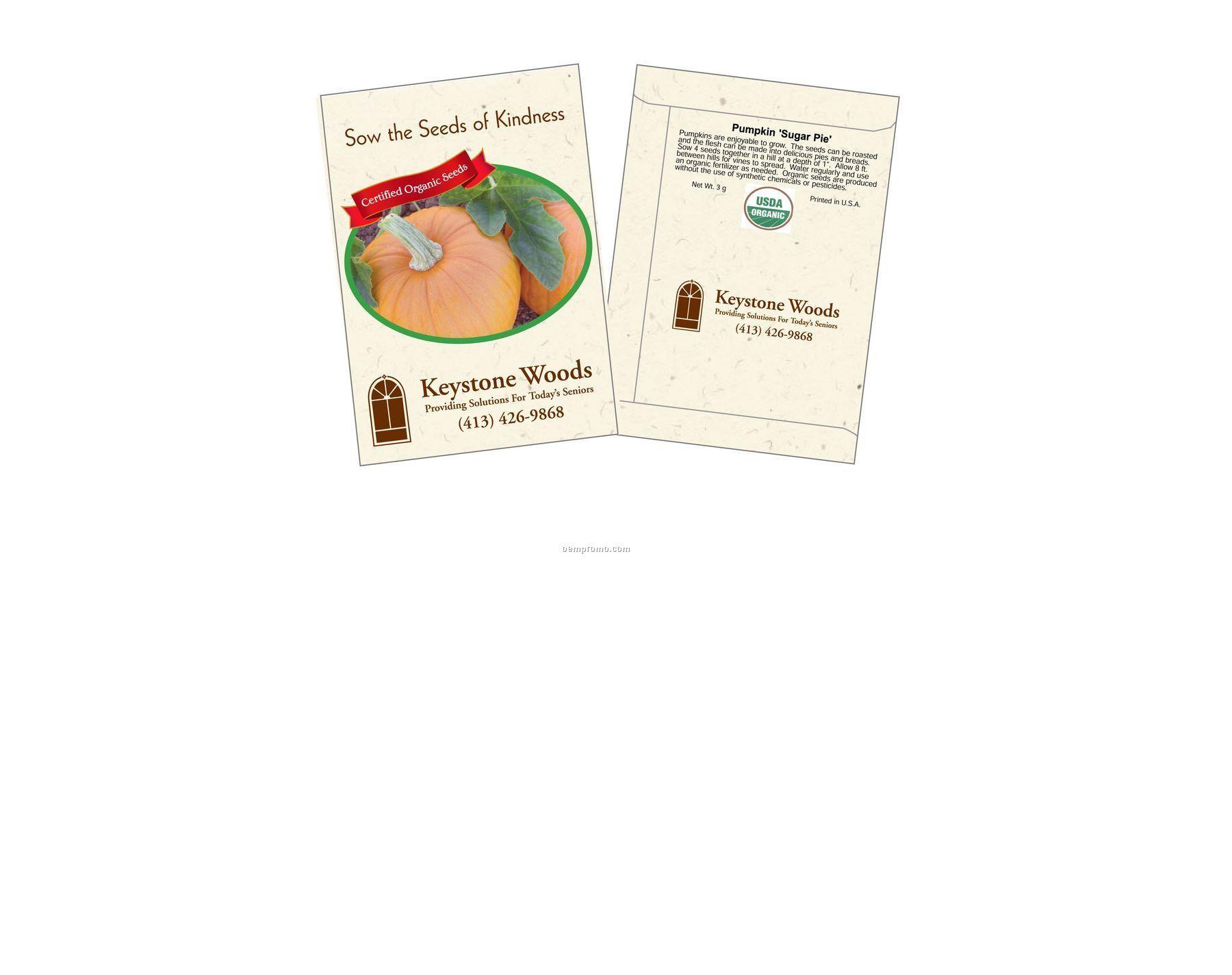 Organic Pumpkin - Sugar Pie Seed Packets (2 Color)