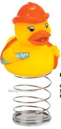 Rubber Fireman Duck Bobble