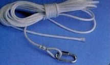White Nylon/ Wire Center Rope Assembly For 40' Pole