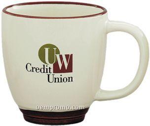 11 Oz. Halo Bistro Mug (Cream/ Color)
