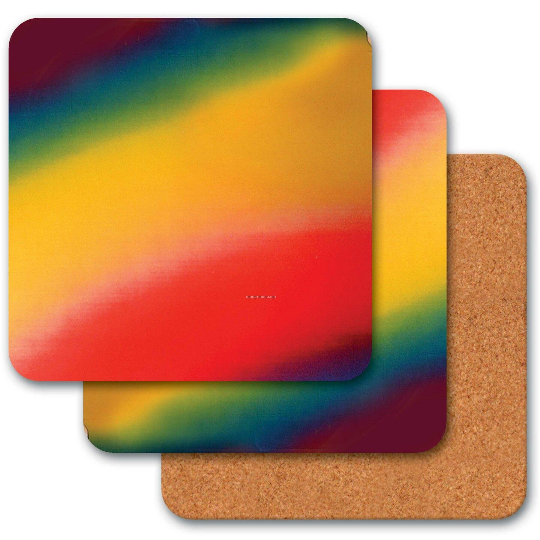"4"" Square Coaster W/3d Lenticular Changing Colors Effects (Blanks)"