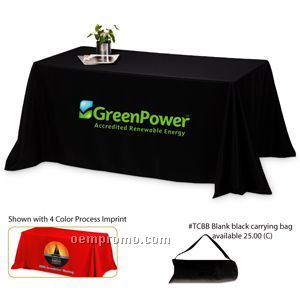 4 Sided 6' Throw Style Table Cover (Screen Printed)