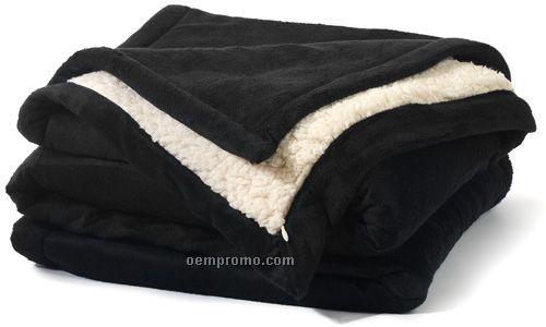 Black Faux Sherpa Blanket