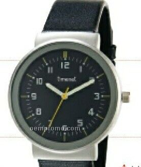 Men`s Dress Wristwatch With Silver Case