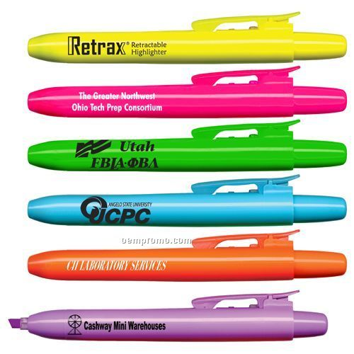 Retrax Retractable Fluorescent Highlighter