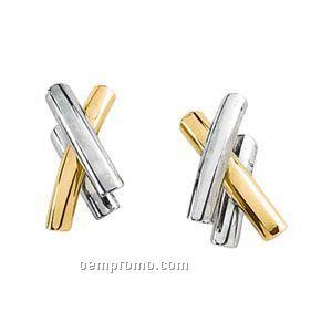 16-1/2x15 Ladies' 14ktt Metal Fashion Earring