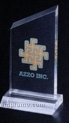 "Economy Series Acrylic Slanted Top Award W/ Base (3""X5 3/4"")"