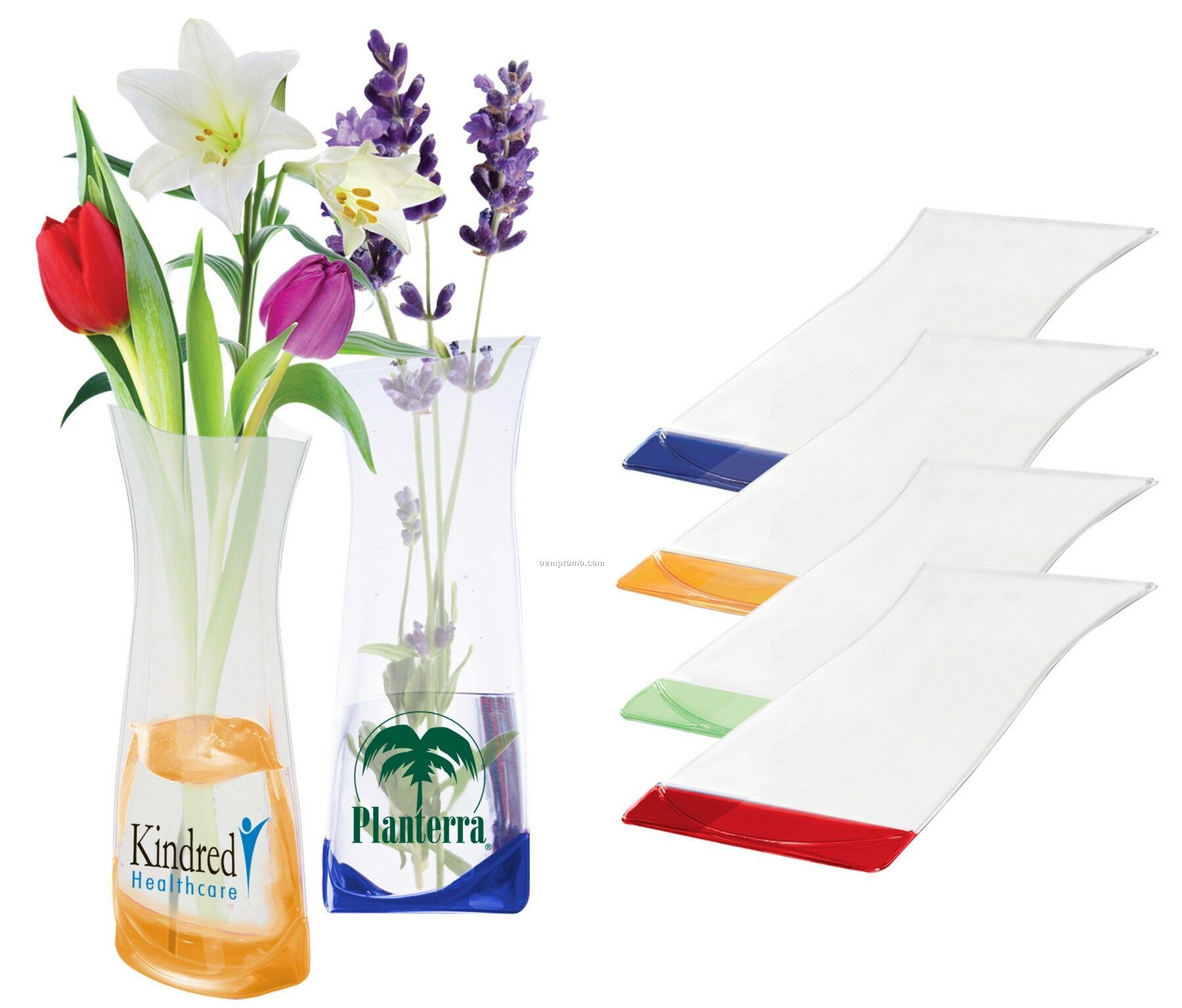 Flexible Plastic Foldable Vase