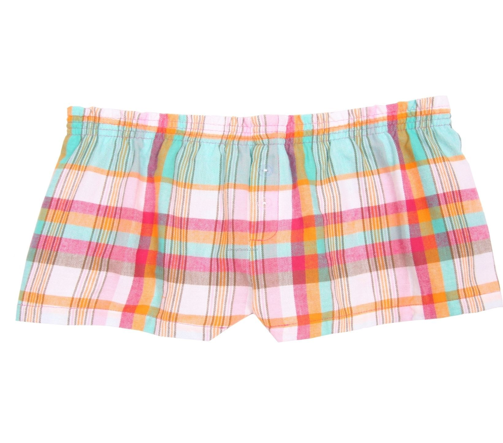 Ladies' Beach Flannel Bitty Boxer Short With False Fly
