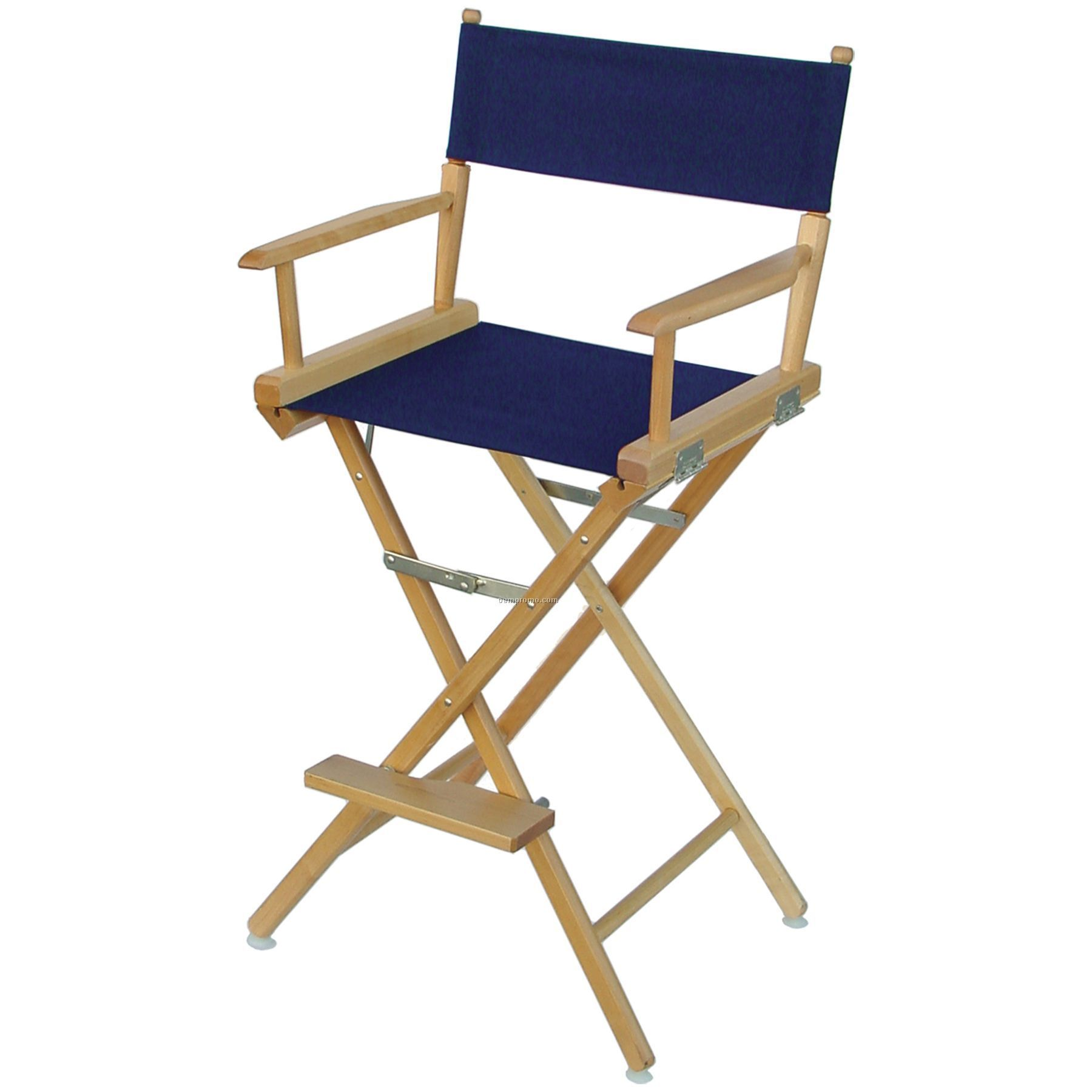 Celebrity II 29.5 in. Red Canvas Directors Chair White ...