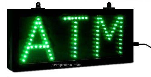 "23"" Green Atm LED Sign"