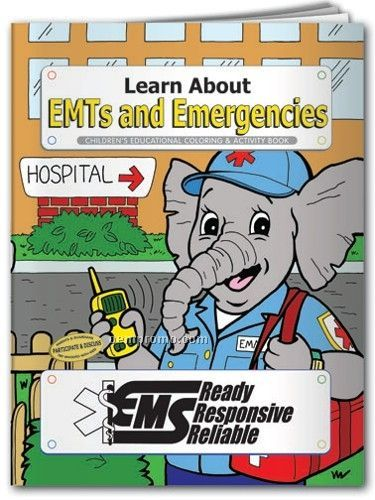 Action Pack Color Book W/ Crayons & Sleeve- Learn About Emt's & Emergencies