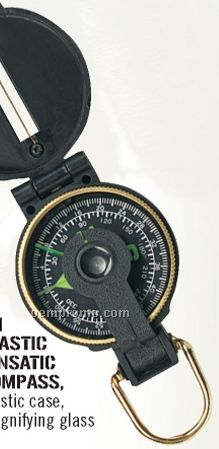 Plastic Military Lensatic Compass With Magnifying Glass