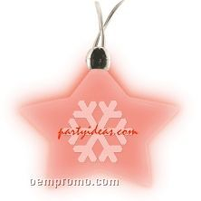 Star Light Up Pendant Necklace W/ Red LED