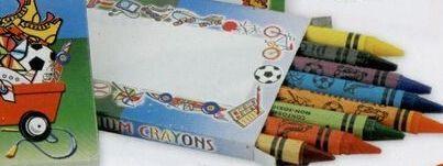 Stock 8 Pack Premium Crayons In Confetti Box