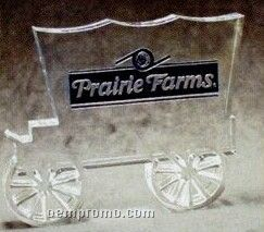 Acrylic Paperweight Up To 9 Square Inches / Covered Wagon