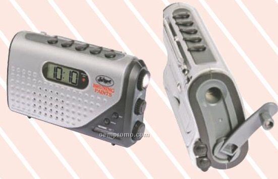 Dynamo Self Powered Alarm Clock Radio