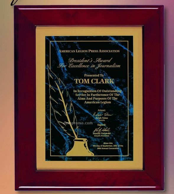 "Piano Rosewood Frame Plaque (12""X15"")"