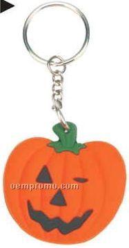 Rubber Pumpkin Duck Key Chain