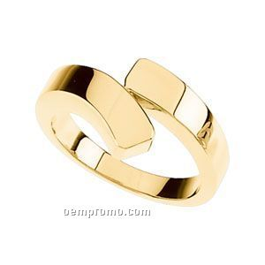 14ky 11-1/2mm Ladies' Metal Fashion Ring