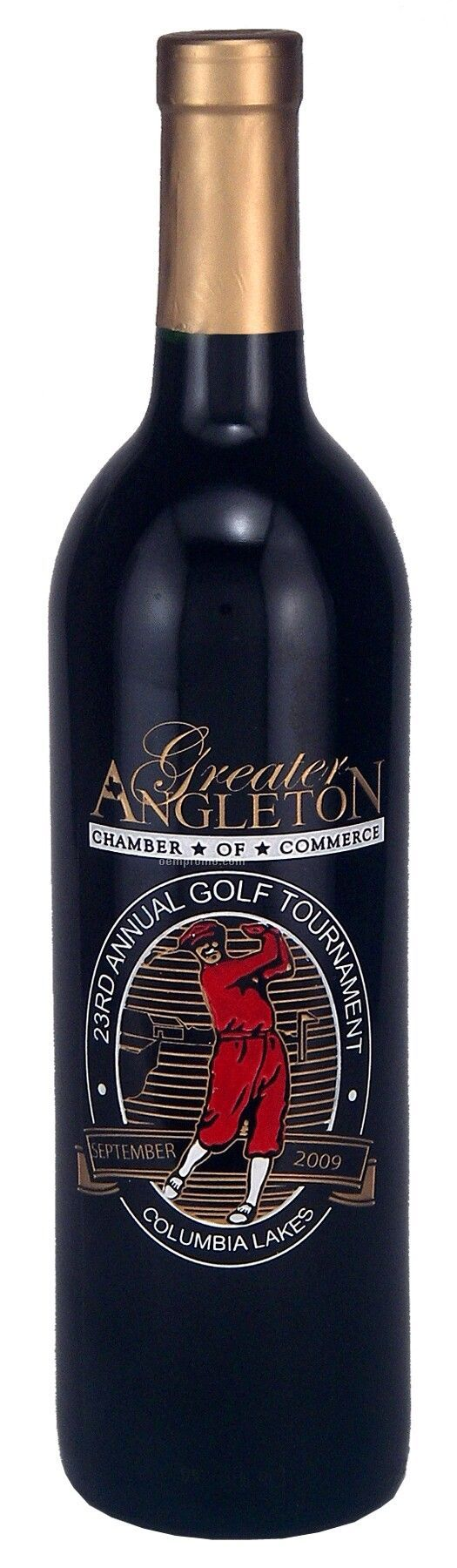 750ml Standard Merlot Wine Etched With 3 Color Fills