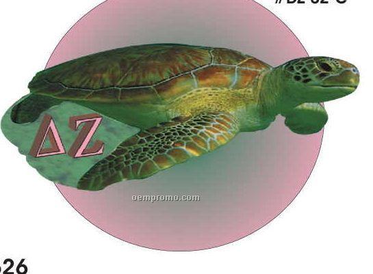 Delta Zeta Sorority Turtle Acrylic Coaster W/ Felt Back