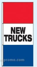 Double Face Stock Message Free Flying Drape Flags - New Trucks