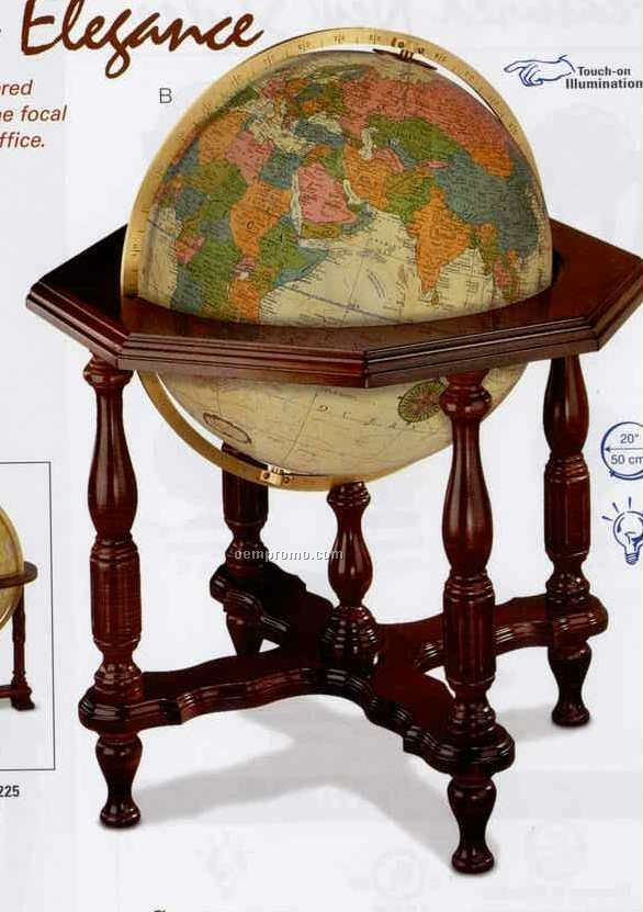 Illuminated Statesman Antique Ocean Globe