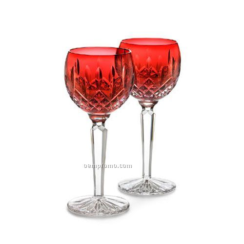 Waterford lismore 146269 hock wine stem glasses pair china wholesale waterford lismore 146269 - Waterford colored wine glasses ...