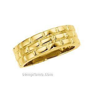 14ky 8mm Gents' Duo Wedding Band Ring