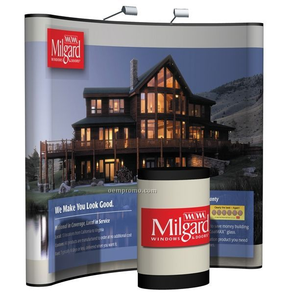 8' Curved Floor Fabric Kit W/ Mutual W/ Case Graphic