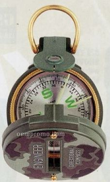 Camouflage Military Lensatic Compass With Magnifying Glass