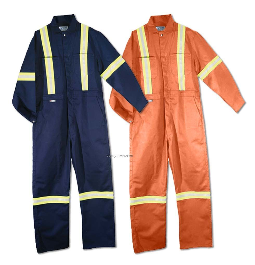 Heavy Weight Cotton Coverall W/ Reflective Tape (S-4xl)