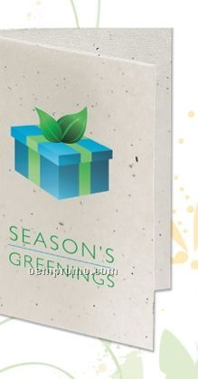 Seeded Paper Holiday Card - Season's Greenings (Gift Box)