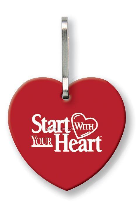 Sof-touch Vinyl Heart Quik Zip Zipper Pull