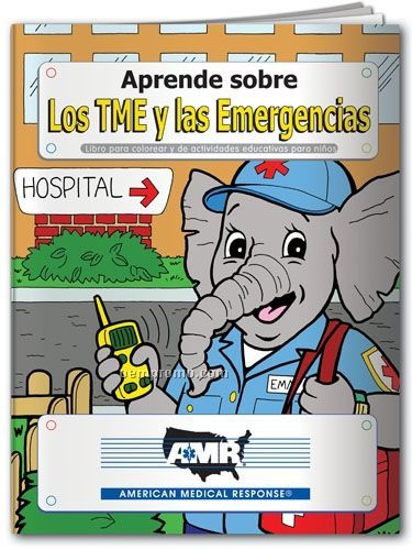Spanish Action Pack Color Book W/ Crayons & Sleeve - Learn About Emt's