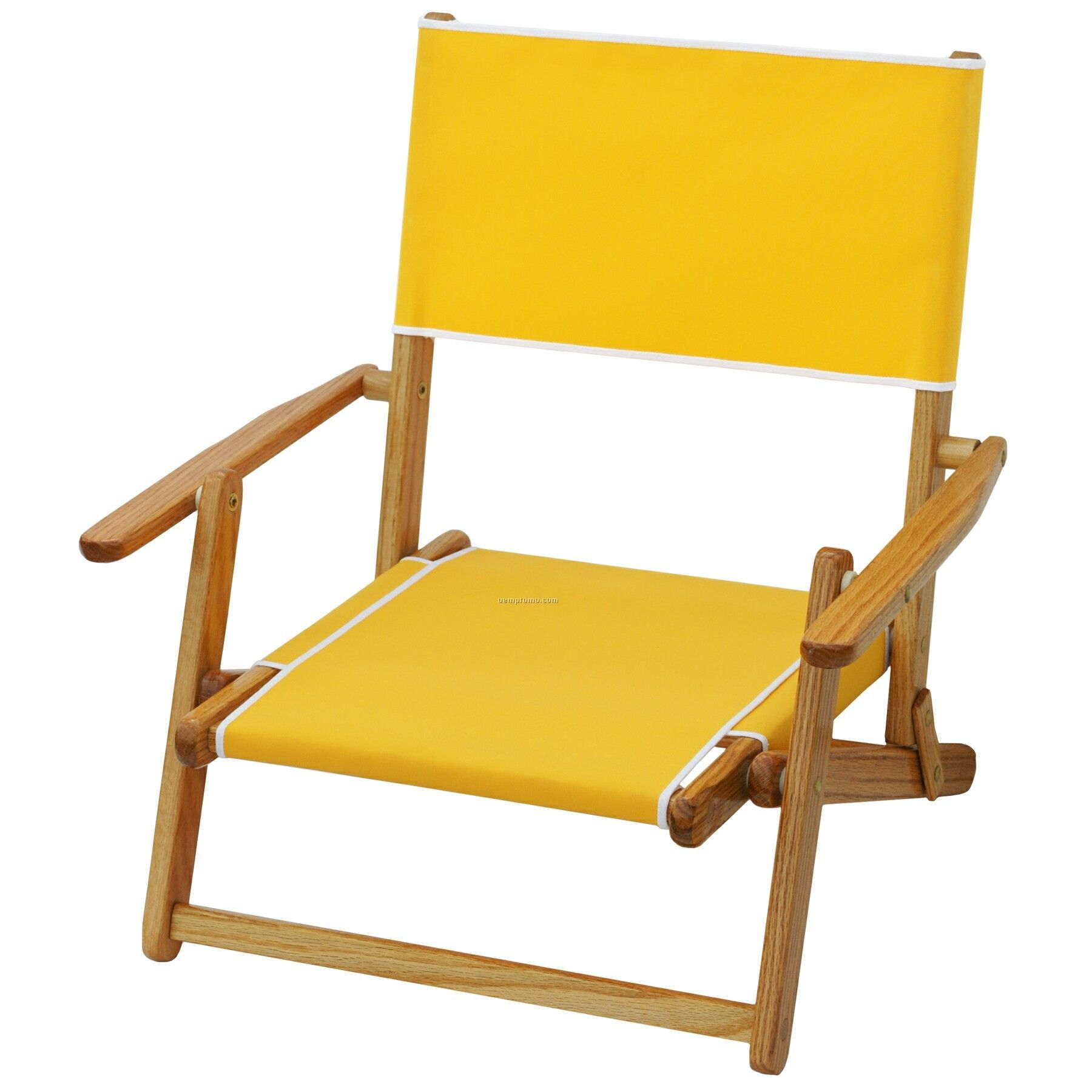 Us Made Deluxe Folding Solid Oak Hardwood Frame Sand Chair