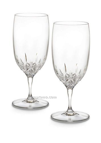 Waterford Lismore Essence Water Goblet Boxed Pair
