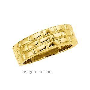 14ky 8mm Ladies' Duo Wedding Band Ring