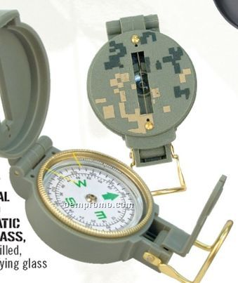 Army Digital Camouflage Military Lensatic Compass With Magnifying Glass