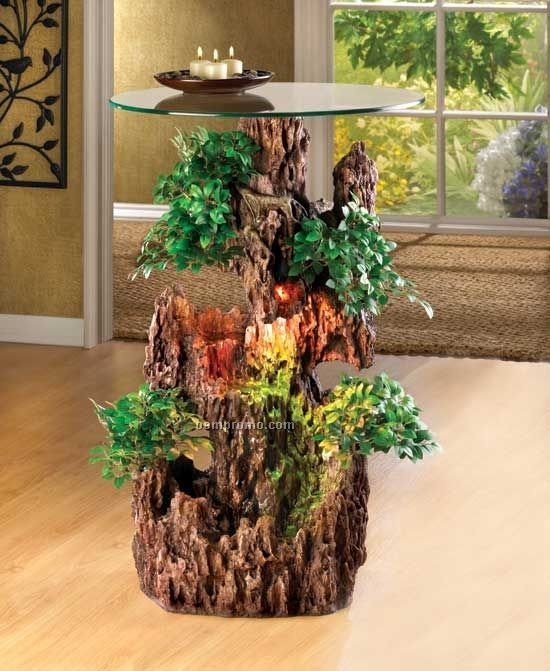 Bonsai Fountain Accent Table
