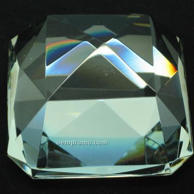 Square Shape Crystal Diamond Paperweight(Screen Printed)