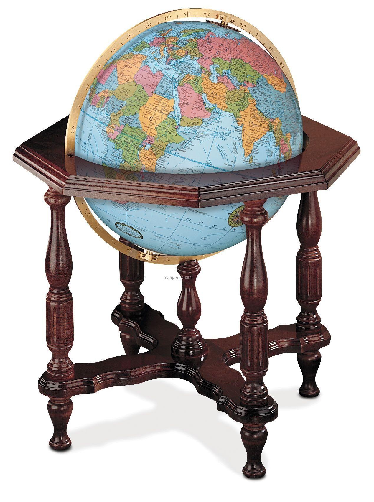 Statesman Blue Ocean Illuminated Globe