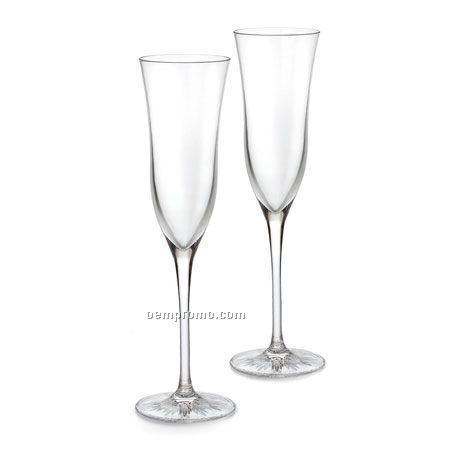 """Waterford 151523 Clearly Waterford """"Light"""" Champagne Flute, Pair"""
