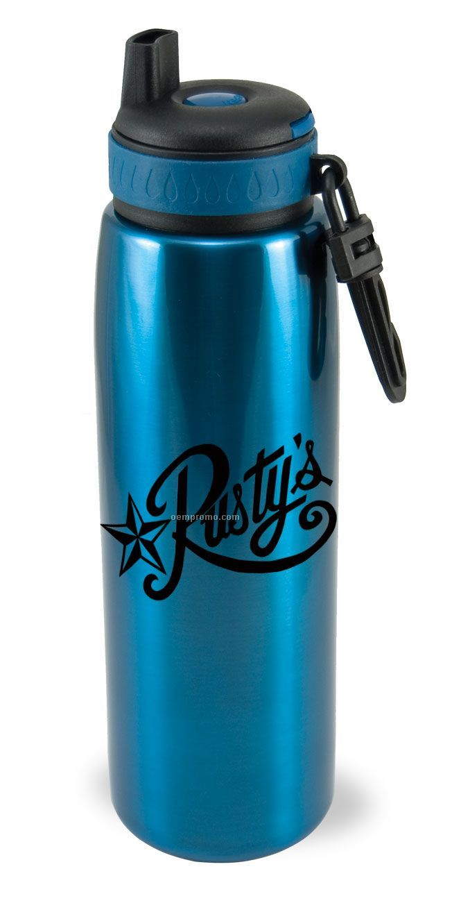 26oz Stainless Steel Bottle W/Clicker