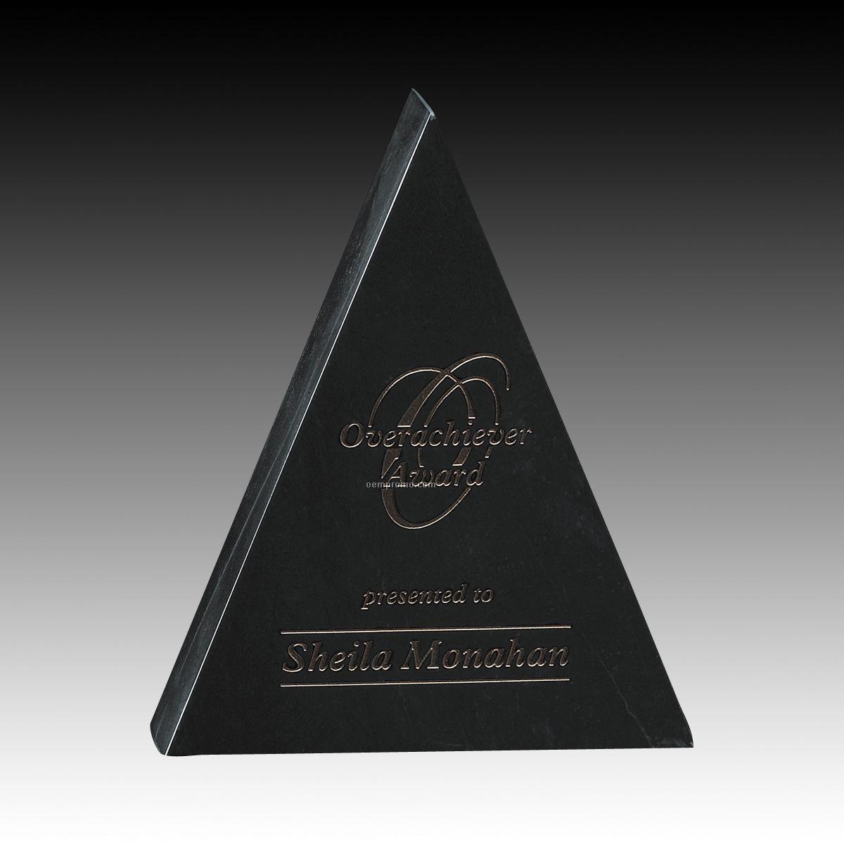 """5"""" Black Genuine Marble Hastings Award"""