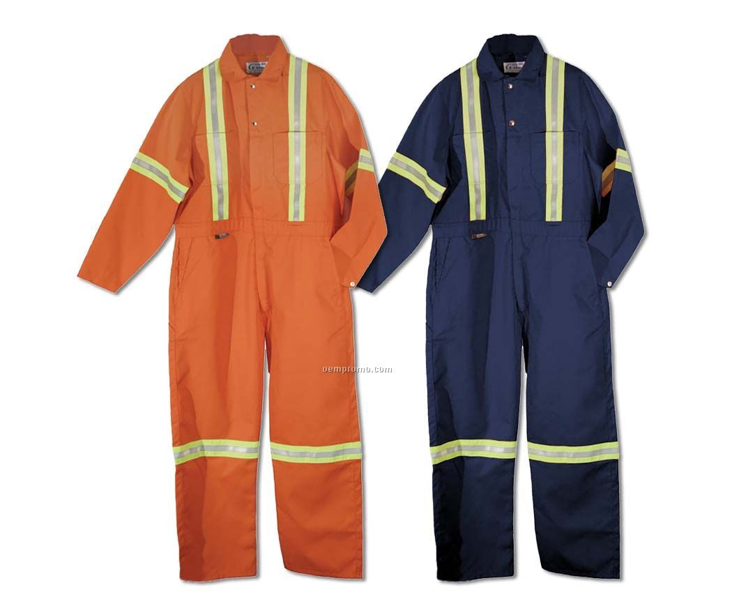 Coverall W/ Reflective Tape (S-4xl)