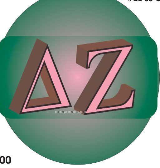 Delta Zeta Sorority Letters Acrylic Coaster W/ Felt Back