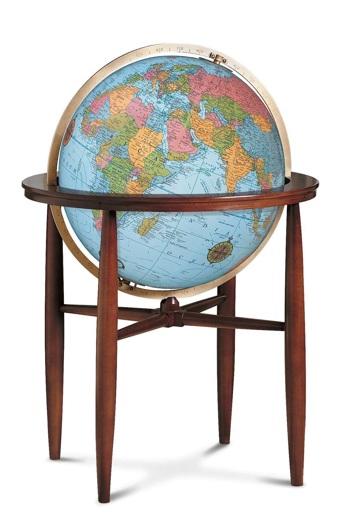 Finley Blue Ocean Illuminated Globe