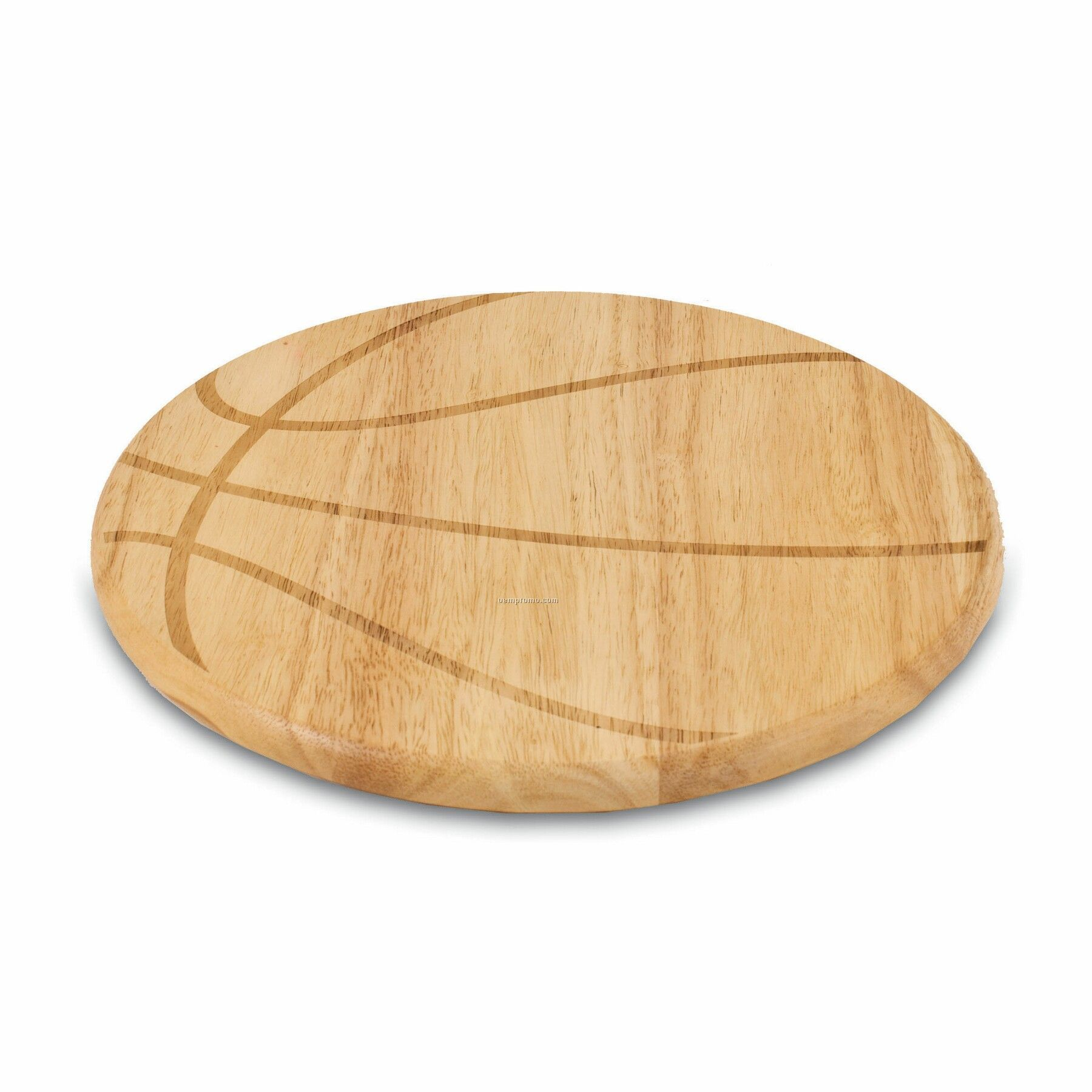 Free Throw Basketball Shaped Wood Cutting Board / Serving Tray